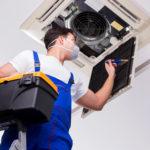 repairing ceiling air conditioning unit